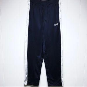 🔴SOLD Vintage PUMA Track Pants Blue White Stripes